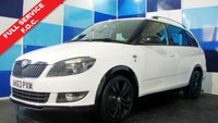 USED 2014 63 SKODA FABIA 1.2 MONTE CARLO TECH TSI 5d 105 BHP Best colour white with virtually full service history, with sporty interior and aggressive look with black alloys. Auto Express wrote . It's easy to conclude that the Monte Carlo is a sheep in wolf's clothing, but dig a little deeper and you soon discover that it's a hidden gem, and the eager 1.2-litre engine is a willing companion on country roads. Its not the last word in power or handling, but at just over £14,000, it's an awful lot of car for the money, and something of a cheap thrill too.
