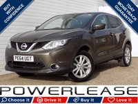 USED 2014 64 NISSAN QASHQAI 1.2 ACENTA PREMIUM DIG-T 5d 113 BHP BLACK FRIDAY WEEKEND EVENT, LEATHER SUNROOF REVERSE CAMERA