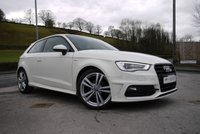 USED 2013 63 AUDI A3 1.2 TFSI S LINE 3d 104 BHP ONE OWNER-LOW INSURANCE
