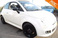 USED 2015 64 FIAT 500 0.9 TWINAIR C S DUALOGIC 3d AUTO 85 BHP FINISHED IN BOSSA NOVA WHITE,ONE OWNER 14,000 MILES