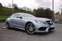 USED 2014 64 MERCEDES-BENZ E CLASS 2.1 E220 BLUETEC AMG LINE 2d AUTO 174 BHP BENGAL RED LEATHER-PANORAMIC SUNROOF