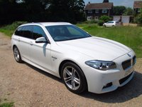 USED 2013 63 BMW 5 SERIES 2.0 520D M SPORT TOURING 5d AUTO 181 BHP F/S/H, Full Brown Leather
