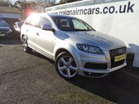 USED 2010 60 AUDI Q7 3.0 TDI QUATTRO S LINE 5d AUTO 240 BHP Navigation+Bluetooth+7 Seater And Full Service History
