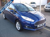USED 2014 64 FORD FIESTA 1.2 ZETEC 5d 81 BHP Only 6005 miles, Full service history, £30 - 12 months tax, Power folding mirrors, Rear parking sensors.