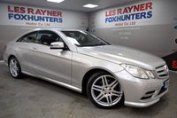 USED 2012 12 MERCEDES-BENZ E CLASS 2.1 E220 CDI BLUEEFFICIENCY SPORT 2d AUTO 170 BHP Full Mercedes Benz Service History, Sat Nav, Automatic, Leather
