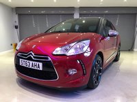 USED 2013 63 CITROEN DS3 1.6 E-HDI AIRDREAM DSPORT PLUS 3d 111 BHP FULL BLACK LEATHER SEATS + PARKING SENSORS
