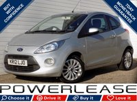 USED 2012 12 FORD KA 1.2 ZETEC 3d 69 BHP BLACK FRIDAY WEEKEND EVENT, £30 ROAD TAX STOP/START FSH