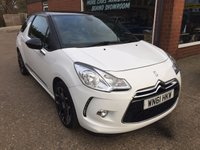 USED 2011 61 CITROEN DS3 1.6 DSTYLE PLUS 3d 120 BHP ONLY 40,000 MILES IN WHITE APPROVED CARS ARE PLEASED TO OFFER THIS  CITROEN DS3 1.6 DSTYLE PLUS 3d 120 BHP WITH ONLY 40,000 MILES IN WHITE/BLACK WITH A FULL MAIN DEALER SERVICE HISTORY,A GREAT POPULAR SMALL FAMILY CAR OR FIRST CAR.