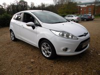 USED 2012 12 FORD FIESTA 1.4 ZETEC 16V 5d 96 BHP Bluetooth, Aux USB Port .Alloy Wheels