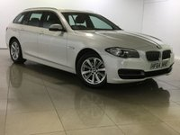 USED 2014 64 BMW 5 SERIES 2.0 520D SE TOURING 5d AUTO 188 BHP SAT NAV / LEATHER