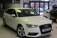 USED 2014 63 AUDI A3 2.0 TDI SPORT 5d AUTO 148 BHP FULL SERVICE HISTORY +  BLUETOOTH + 17 INCH ALLOYS + DAB RADIO + SPORT CHASSIS + ELECTRIC WINDOWS