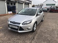 USED 2014 64 FORD FOCUS 1.6 ZETEC TDCI 5d 113 BHP Full Service History-1 Owner-Bluetooth-Diesel