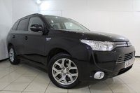 USED 2014 64 MITSUBISHI OUTLANDER 0.0 PHEV GX 4H 5DR AUTOMATIC 162 BHP HEATED LEATHER SEATS + SAT NAVIGATION + REVERSE CAMERA + ELECTRIC SUNROOF + BLUETOOTH + CRUISE CONTROL + MULTI FUNCTION WHEEL + 18 INCH ALLOY WHEELS