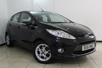 USED 2011 61 FORD FIESTA 1.2 ZETEC 5DR 81 BHP SERVICE HISTORY + BLUETOOTH + MULTI FUNCTION WHEEL + AUXILIARY PORT + RADIO/CD + 15 INCH ALLOY WHEELS