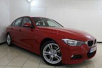USED 2014 64 BMW 3 SERIES 2.0 320D M SPORT 4DR AUTOMATIC 181 BHP LEATHER SEATS + SAT NAVIGATION + PARKING SENSOR + BLUETOOTH + CRUISE CONTROL + MULTI FUNCTION WHEEL + CLIMATE CONTROL + 18 INCH ALLOY WHEELS