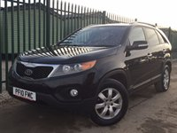 USED 2010 10 KIA SORENTO 2.2 CRDI KX-2 5d AUTO 195 BHP 7 SEATER LEATHER PRIVACY TOWBAR  NO FINANCE REPAYMENTS FOR 2 MONTHS STC. 4WD. 7 SEATER. STUNNING BLACK MET WITH FULL BLACK LEATHER TRIM. HEATED SEATS. CRUISE CONTROL. 17 INCH ALLOYS. COLOUR CODED TRIMS. PRIVACY GLASS. PARKING SENSORS. CLIMATE CONTROL. TRIP COMPUTER. R/CD PLAYER. MFSW. TOWBAR. MOT 11/18. ONE PREV OWNER. FCA FINANCE APPROVED DEALER. TEL 01937 849492