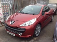2007 PEUGEOT 207 1.6 GT COUPE CABRIOLET 2d 118 BHP £SOLD