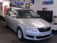 USED 2015 15 SKODA ROOMSTER 1.2 SE TSI 5d 85 BHP Super example and superb value for money in Silver with ONLY 1 Owner from new -Skoda service history,great spec incl twin Panoramic Sunroof,Aux in,Rear Park Sensors to make parking  so much easier,traction control for safety and air conditioning to keep you cool when needed -such a great versatile car-3 seat seats all un plugg and lift to give bags of space for this compact quality 5dr hatch-economical too with fine performance from this excellent 1.2 Tsi modern engine -
