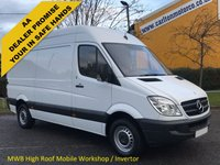 USED 2012 12 MERCEDES-BENZ SPRINTER 2.1 313 CDI 129 Mwb High Roof [ Mobile Workshop Invertor] Van Low Mileage Free UK Delivery