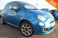 USED 2014 64 FIAT 500 0.9 TWINAIR C S DUALOGIC 3d AUTO 85 BHP STUNNING ELECTRONICA METALLIC WITH MATTE GREY ALLOYS AND MIRROR CAPPINGS