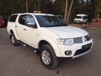 USED 2013 63 MITSUBISHI L200 2.5 DI-D 4X4 TROJAN DOUBLE CAB PICK UP 175 BHP Air Conditioning, Full Leather, Tow Pack