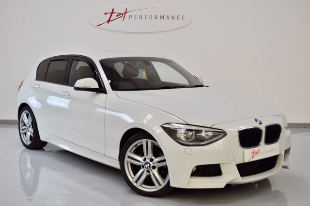 2013 63 BMW 1 SERIES 2.0 116D M SPORT 5d 114 BHP FULL RED LEATHER