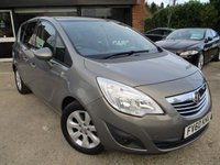 USED 2010 60 VAUXHALL MERIVA 1.7 SE CDTI 5d AUTO 99 BHP ALLOYS, AIR CON, HPI CLEAR, PANORAMIC ROOF, HALF LEATHER, SERVICE HISTORY, SPARE KEY