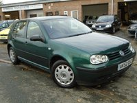USED 2002 52 VOLKSWAGEN GOLF 1.6 S 5d 103 BHP CHEAP TO RUN+NEW MOT ON SALE
