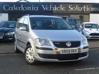 USED 2009 09 VOLKSWAGEN TOURAN 1.9 S TDI BLUEMOTION 5d 103 BHP ONE FORMER KEEPER with SEPT 2018 MOT & SERVICE HISTORY, DIESEL 7 SEATER