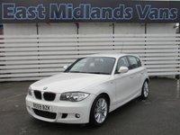 2009 BMW 1 SERIES 2.0 118D M SPORT 5d 141 BHP (59) Plate, White £4500.00