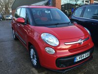USED 2014 64 FIAT 500L 1.2 MULTIJET POP STAR DUALOGIC 5d AUTO 85 BHP SAT NAV IN RED. APPROVED CARS ARE PLEASED TO OFFER THIS  FIAT 500L 1.2 MULTIJET POP STAR DUALOGIC 5d AUTO 85 BHP IN RED IN GREAT CONDITION WITH A FULL SERVICE HISTORY.