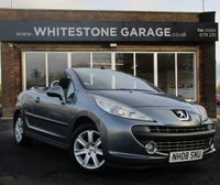 USED 2008 08 PEUGEOT 207 1.6 SPORT COUPE CABRIOLET 2d 118 BHP ELECTRIC RETRACTABLE METAL ROOF, 2 KEYS, AIR CONDITIONING,