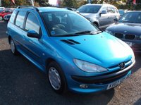USED 2003 03 PEUGEOT 206 1.4 SW XT 5d 74 BHP AFFORDABLE FAMILY ESTATE  CAR IN EXCELLENT CONDITION, DRIVES SUPERBLY WITH SERVICE HISTORY !!!!!