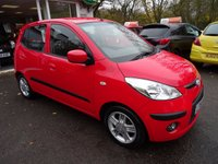 USED 2010 60 HYUNDAI I10 1.2 COMFORT 5d 77 BHP Low Mileage, Full Service History, One Previous Owner, MOT until September 2018 (no advisories), Great on fuel! Only £30 Road Tax!