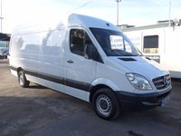 USED 2011 61 MERCEDES-BENZ SPRINTER 313 CDI LWB HI ROOF, 130 BHP [EURO 5], 1 FORMER KEEPER