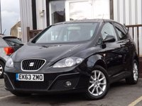 USED 2013 63 SEAT ALTEA 1.6 TDI CR ECOMOTIVE SE COPA 5d 105 BHP Full Seat Service History, Low mileage, Superb condition car.