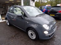 USED 2013 13 FIAT 500 0.9 TWINAIR CONVERTIBLE LOUNGE 3d 85 BHP Comprehensive Service History (Fiat + ourselves), NEW MOT (minimum 9 months), Excellent on fuel economy! FREE Road Tax!