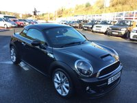 USED 2013 13 MINI COUPE 2.0 COOPER SD 141BHP Black leather sports seats, one owner with 23,000 miles