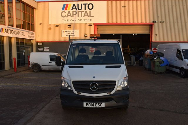 2014 14 MERCEDES-BENZ SPRINTER 2.1 313 CDI LWB 2d 129 BHP RWD S/CAB DIESEL MANUAL DROPSIDE LORRY  ONE OWNER S/H SPARE KEY