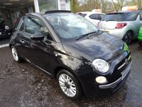 USED 2014 64 FIAT 500 0.9 TWINAIR CONVERTIBLE LOUNGE 3d 85 BHP Low Mileage, Full Service History + Just Serviced by ourselves, One Lady Owner from new, MOT until September 2018 (no advisories). Excellent on fuel economy! FREE Road Tax! Convertible