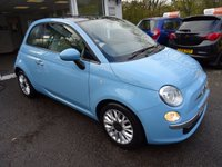 USED 2014 64 FIAT 500 0.9 TWINAIR LOUNGE 3d 85 BHP Just Serviced by ourselves, NEW MOT (minimum 9 months), Excellent on fuel economy! FREE Road Tax!
