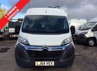USED 2014 64 CITROEN RELAY LWB 2.2 35 L3H2 ENTERPRISE HDI 129 BHP 1 OWNER FSH NEW MOT FREE 6 MONTH AA WARRANTY, RECOVERY AND ASSIST NEW MOT AIR CONDITIONING BLUETOOTH ELECTRIC WINDOWS AND MIRRORS REAR PARKING SENSORS MULTI FUNCTIONAL STEERING WHEEL SATELLITE NAVIGATION