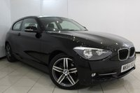 USED 2014 64 BMW 1 SERIES 2.0 116D SPORT 3DR 114 BHP BLUETOOTH + CRUISE CONTROL + MULTI FUNCTION WHEEL + AUXILIARY PORT + 17 INCH ALLOY WHEELS