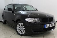 USED 2011 61 BMW 1 SERIES 2.0 116I ES 3DR AUTOMATIC 121 BHP SERVICE HISTORY + BLUETOOTH + PARKING SENSOR + RADIO/CD + AUXILIARY PORT + 16 INCH ALLOY WHEELS
