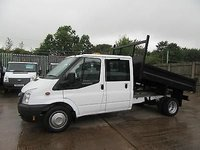 USED 2014 14 FORD TRANSIT 300 MWB DC TIPPER 100ps
