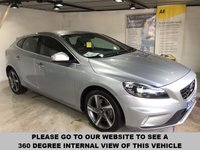USED 2013 63 VOLVO V40 2.0 D4 R-DESIGN 5d AUTO 177 BHP Full service history,        R-Design contrasting leather upholstery,        R-Design steering wheel,        Bluetooth,        17-inch alloy wheels