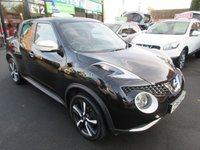 USED 2015 15 NISSAN JUKE 1.2 TEKNA DIG-T 5d 115 BHP LIMITED EDITION BLACK AND WHITE