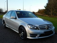 USED 2013 63 MERCEDES-BENZ C CLASS 2.1 C220 CDI BLUEEFFICIENCY AMG SPORT 4d 168 BHP AMG BLACK SPOILER, AMG ALLOYS