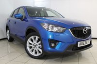 USED 2013 63 MAZDA CX-5 2.2 D SPORT NAV 5DR 148 BHP FULL MAZDA SERVICE HISTORY + HEATED LEATHER SEATS + SAT NAVIGATION + REVERSE CAMERA + BLUETOOTH + CRUISE CONTROL + MULTI FUNCTION WHEEL + CLIMATE CONTROL + 19 INCH ALLOY WHEELS