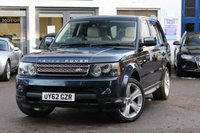 "USED 2012 62 LAND ROVER RANGE ROVER SPORT 3.0 SDV6 HSE LUXURY 5d AUTO 255 BHP HUGE SPEC INC TV, DAB, 20"" ALLOYS, XENONS, BLUETOOTH, IPOD + MUCH MORE"
